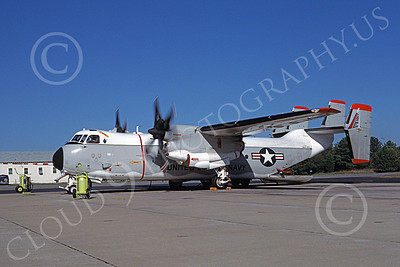 C-2 00055 A static engine run-up Grumman C-2 Greyhound USN 162140 NAS Pax River 10-1987 military airplane picture by Michael Grove, Sr