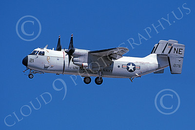 C-2 00052 A landing Grumman C-2 Greyhound USN 162176 VRC-30 PROVIDERS USS Constellation 10-2002 military airplane picture by Michael Grove, Sr