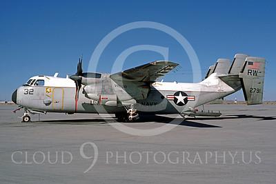 C-2USN 00007 Grumman C-2A Greyhound US Navy 152791 VRG-30 February 1986 by Peter B Lewis