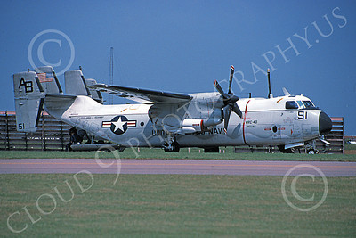 C-2 00067 A static Grumman C-2 Greyhound USN 162153 VRC-40 RAWHIDES USS John F Kennedy 7-1996 military airplane picture by Michael Grove, Sr