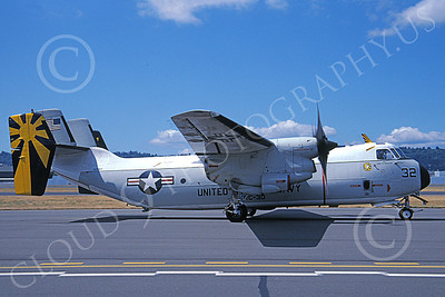 C-2 00057 A taxing Grumman C-2 Greyhound USN 162167 VRC-30 PROVIDERS 8-2002 military airplane picture by Michael Grove, Sr