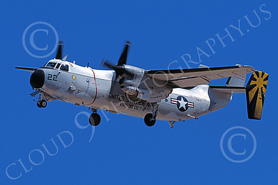 C-2 00056 A landing Grumman C-2 Greyhound USN 162162 VRC-30 PROVIDERS USS Constellation 10-2002 military airplane picture by Michael Grove, Sr