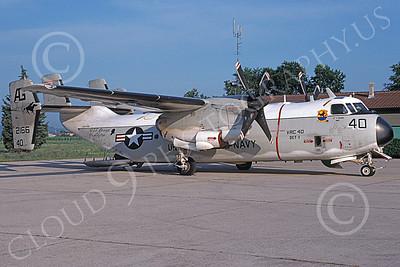 C-2 00069 A static Grumman C-2 Greyhound USN 162166 VRC-40 RAWHIDES USS George Washington 6-1994 military airplane picture by Michael Grove, Sr