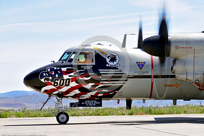 E-2USN-VAW-113 005 Close up of the nose of a colorful Grumman E-2C Hawkeye USN 165819 VAW-113 BLACK EAGLES USS Carl Vinson on NAS Fallon's runway ready for take-off 4-2016 military airplane picture by Peter J  Mancus