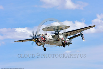 E-2USN-VAW-113 008 A colorful Grumman E-2C Hawkeye airborne control aircraft VAW-113 BLACK EAGLES USS Carl Vinson 4-2016 military airplane picture by Peter J  Mancus