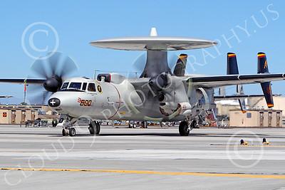 E-2USN 00001 A USN VAW-125 TORCHBEARER Grumman E-2 Hawkeye during engine run-up at NAS Fallon, by Peter J Mancus