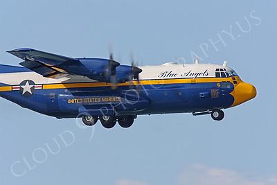 CUNMP 00032 Lockheed C-130 Hercules USN BLUE ANGELS by Peter J Mancus