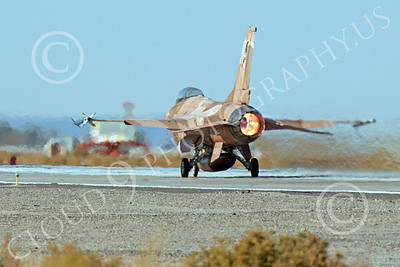 AB-F-16USN 00007 A brown Lockheed Martin F-16 Fighting Falcon USN TOP GUN in afterburner NAS Fallon 10-2013 military airplane picture by Peter J Mancus