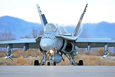 CAG 00127 A taxing colorful McDonnell Douglas F-18C Hornet VFA-113 STINGERS with missiles NAS Fallon 11-2013 military airplane picture by Peter J Mancus