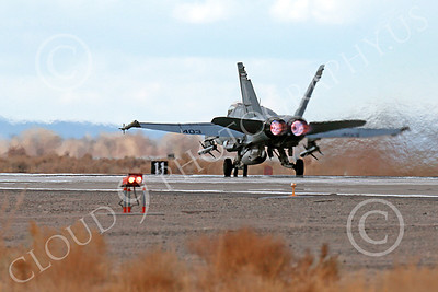 AB-F-18USN-L 00001 A Boeing F-18C Hornet USN VFA-94 MIGHTY SHRIKES takes off NAS Fallon 3-2013 military airplane picture by Peter J Mancus