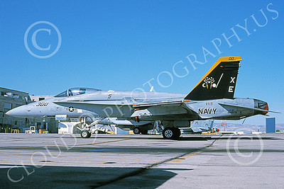Boeing F-18C-USN 00037 A static Boeing F-18C Hornet USN 164976 VX-9 VAMPIRES XE code 6-2002 military airplane picture by Michael Grove, Sr