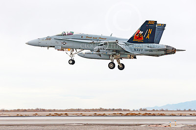 CAG 00230 A colorful McDonnell Douglas F-18C Hornet USN 164257 VFA-113 STINGERS USS Carl Vinson with missiles lands at NAS Fallon 11-2013 military airplane picture by Peter J Mancus