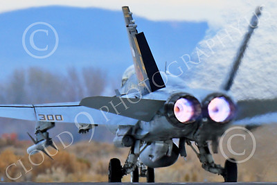 AB-F-18USN-L 00065 Tight crop of a colorful McDonnell Douglas F-18C Hornet USN 164257 VFA-113 STINGERS with missiles in afterburner at NAS Fallon 11-2013 military airplane picture by Peter J Mancus