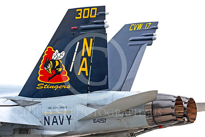 TAILS 00107 A tight crop of VFA-113 STINGERS' colorful McDonnell Douglas F-18C Hornet USN 164257 tail USS Carl Vinson NAS Fallon 11-2013 military airplane picture by Peter J Mancus