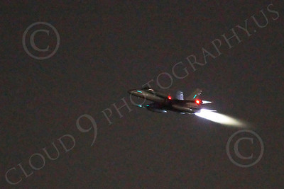 AB - F-18USN-L 00020 McDonnell Douglas F-18 Hornet US Navy in afterburner at night by Peter J Mancus