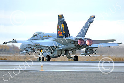 AB-F-18USN-L 00041 A colorful McDonnell Douglas F-18C Hornet USN 164257 VFA-113 STINGERS with missiles in afterburner at NAS Fallon 11-2013 military airplane picture by Peter J Mancus
