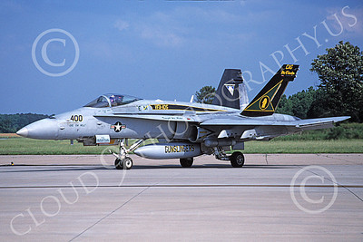 Boeing F-18C-USN 00173 A taxing McDonnell Douglas F-18C Hornet USN 164246 VFA-105 GUNSLINGERS NAS Oceana 6-2004 military airplane picture by David F Brown