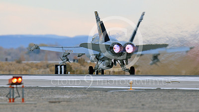 AB-F-18USN-L 00117 A colorful McDonnell Douglas F-18C Hornet USN 164257 VFA-113 STINGERS with missiles in afterburner at NAS Fallon 11-2013 military airplane picture by Peter J Mancus