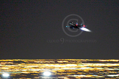 AB - F-18USN-L 00010 McDonnell Douglas F-18 Hornet US Navy in afterburner at night by Peter J Mancus