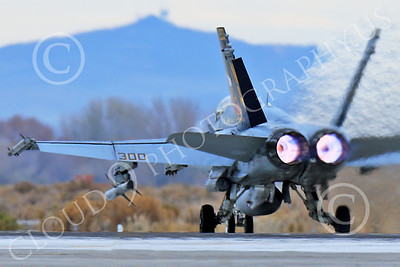 AB-F-18USN-L 00007 A colorful McDonnell Douglas F-18C Hornet USN 164257 VFA-113 STINGERS with missiles in afterburner at NAS Fallon 11-2013 military airplane picture by Peter J Mancus