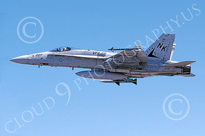 Boeing F-18C-USN 00090 A flying Boeing F-18C Hornet USN 163481 VFA-115 EAGLES 4-2000 military airplane picture by Michael Grove, Sr