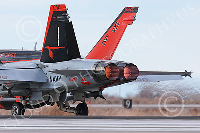 AB-F-18USN-L 00023 A Boeing F-18C Hornet takes off in afterburner at NAS Fallon 3-2013 military airplane picture by Peter J Mancus
