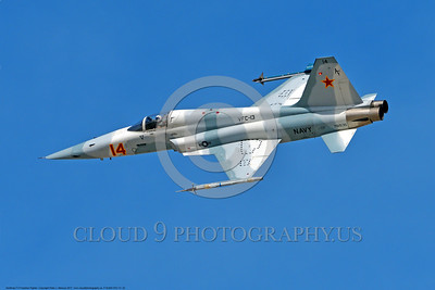 "F-5USN-VFC-13 0022 A banking Northrop F-5E Freedom Fighter USN jet fighter 761535 VFC-13 ""SAINTS"" fleet adversary 3-2017 military airplane picture by Peter J Mancus     DONEwt"