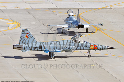 "F-5USN-VFC-13 0011 A Northrop F-5E Freedom Fighter USN jet fighter 761544 VFC-13 ""SAINTS"" taxis at NAS Fallon 3-2017 military airplane picture by Peter J Mancus     DONEwt"