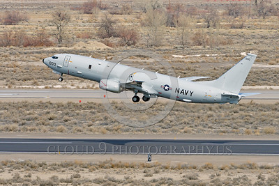 P-8USN 00004 A Boeing P-8 Poseidon USN multi-mission aircraft climbs out after take off at NAS Fallon 3-2017 military airplane picture by Peter J Mancus