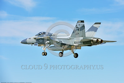 F-18A-USN-VFA-204 0010 A McDonnell Douglas F-18A Hornet USN 162859 adversary VFA-204 RIVER RATTLERS lands at NAS Fallon after a training mission 4-2016 military airplane picture by Peter J  Mancus