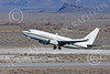 C-40USN 00004 A Boeing C-40 Clipper USN 5833 without markings takes off from NAS Fallon 1-2015 military airplane picture by Peter J Mancus