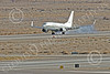 C-40USN 00003 A Boeing C-40 Clipper USN 5833 without markings lands at NAS Fallon 1-2015 military airplane picture by Peter J Mancus