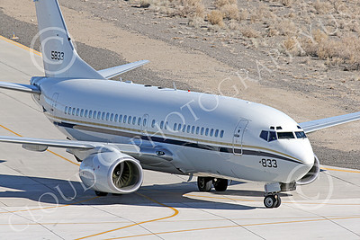 C-40USN 00001 A Boeing C-40 Clipper USN 5833 without markings taxis at NAS Fallon 1-2015 military airplane picture by Peter J Mancus