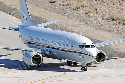 C-40USN 00015 A Boeing C-40 Clipper USN 5833 without markings taxis at NAS Fallon 1-2015 military airplane picture by Peter J Mancus
