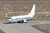 C-40USN 00005 A Boeing C-40 Clipper USN 5833 without markings taxis at NAS Fallon 1-2015 military airplane picture by Peter J Mancus