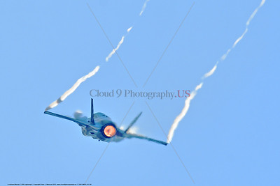F-35B-VMFA-211 00008 A flying Lockheed Martin F-35B Lightning II USMC 168339 stealth jet fighter VMFA-211 AVENGERS CF code zooms up in afterburner MCAS Miramar 9-2016 military airplane picture by Peter J  Mancus
