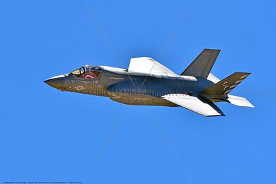 F-35B-VMFA-211 00004 A flying Lockheed Martin F-35B Lightning II USMC 168339 stealth jet fighter VMFA-211 AVENGERS CF code 9-2016 military airplane picture by Peter J  Mancus