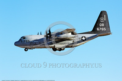 KC-130-USMC-VMGR-352 002 A landing Lockheed KC-130 Hercules USMC cargo-aerial tanker 6765 VMGR-352 RAIDERS QB code 10-2016 military airplane picture by Michael Grove, Sr      DONEwt