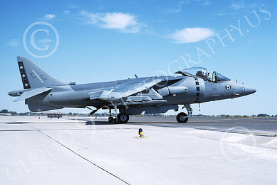 AV-8B-USMC 00025 A taxing McDonnell Douglas AV-8B Harrier USMC 163189 CG code VMA-231 ACE OF SPADES NAS Fallon 10-1994 airplane picture by Michael Grove, Sr