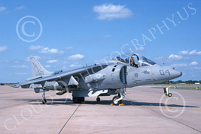 AV-8B-USMC 00023 A static McDonnell Douglas AV-8B Harrier USMC WE code VMA-214 BLACK SHEEP 7-1994 airplane picture by Robert Greby