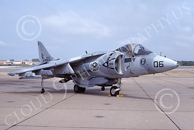 AV-8B-USMC 00041 A static McDonnell Douglas AV-8B Harrier USMC CG code VMA-231 ACE OF SPADES MCAS Cherry Pt 4-1991 airplane picture by David F Brown