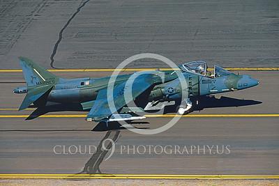AV-8B-USMC 00005 McDD AV-8B Harrier VMA-214 #163866 Kingsley Fld July 1990 by Peter J Mancus