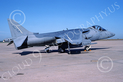 AV-8B-USMC 00015 A static McDonnell Douglas AV-8B Harrier USMC 163189 EG code HMM-263 NAS Washington 9-1995 airplane picture by Dominic Bertoli