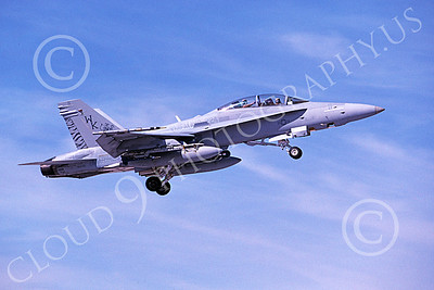F-18USMC 00176 A flying McDonnell Douglas F-18D Hornet USMC VMFA(AW)-224 FIGHTING BENGALS 2-2006 military airplane picture by Michael Grove, Sr