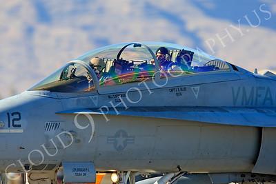 ACM 00371 McDonnell Douglas F-18D Hornet USMC VMFA(AW)-121 Nellis AFB by Peter J Mancus
