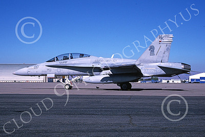 F-18USMC 00163 A static McDonnell Douglas F-18D Hornet USMC 165409 VMFA(AW)-121 GREEN KNIGHTS commanding officer's plane NAS Moffett 10-2003 military airplane picture by Michael Grove, Sr