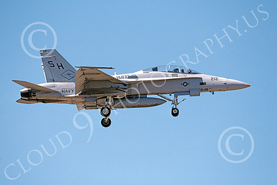F-18USMC 00172 A landing McDonnell Douglas F-18D Hornet USMC 163104 VMFAT-101 SHARPSHOOTERS 4-2002 military airplane picture by Michael Grove, Sr