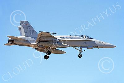 F-18USMC 00136 A landing McDonnell Douglas F-18 Hornet USMC 164271 VMFA-122 WEREWOLVES 5-2002, by Michael Grove, Sr