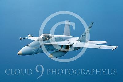 F-18-USMC 00006 McDonnell Douglas F-18 Hornet USMC VMFA-531 March 1985 by Peter J Mancus