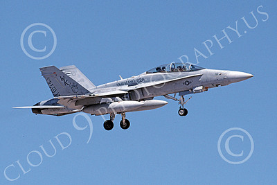 F-18USMC 00174 A landing McDonnell Douglas F-18D Hornet USMC 164723 VMFA(AW)-224 FIGHTING BENGALS 6-2002 military airplane picture by Michael Grove, Sr